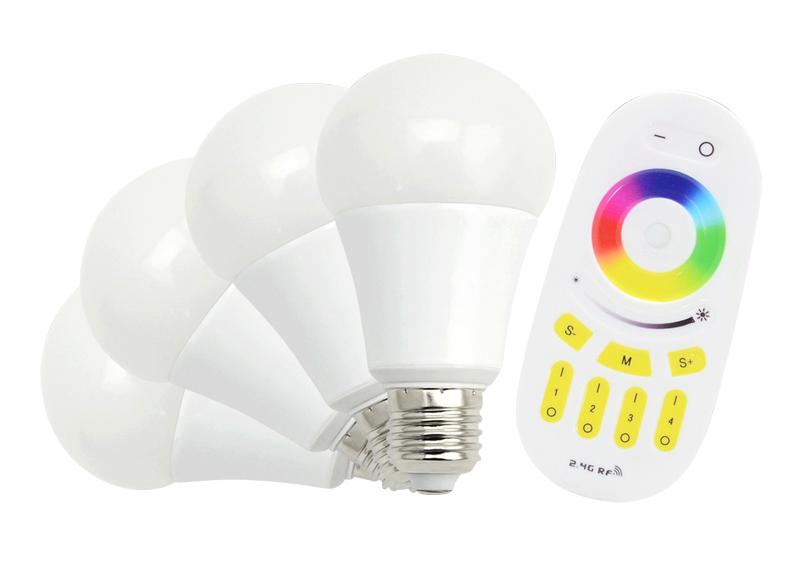 E27 RGBW Lampe - RGBW GU10 LED COLOR Lampe mit 4 Watt