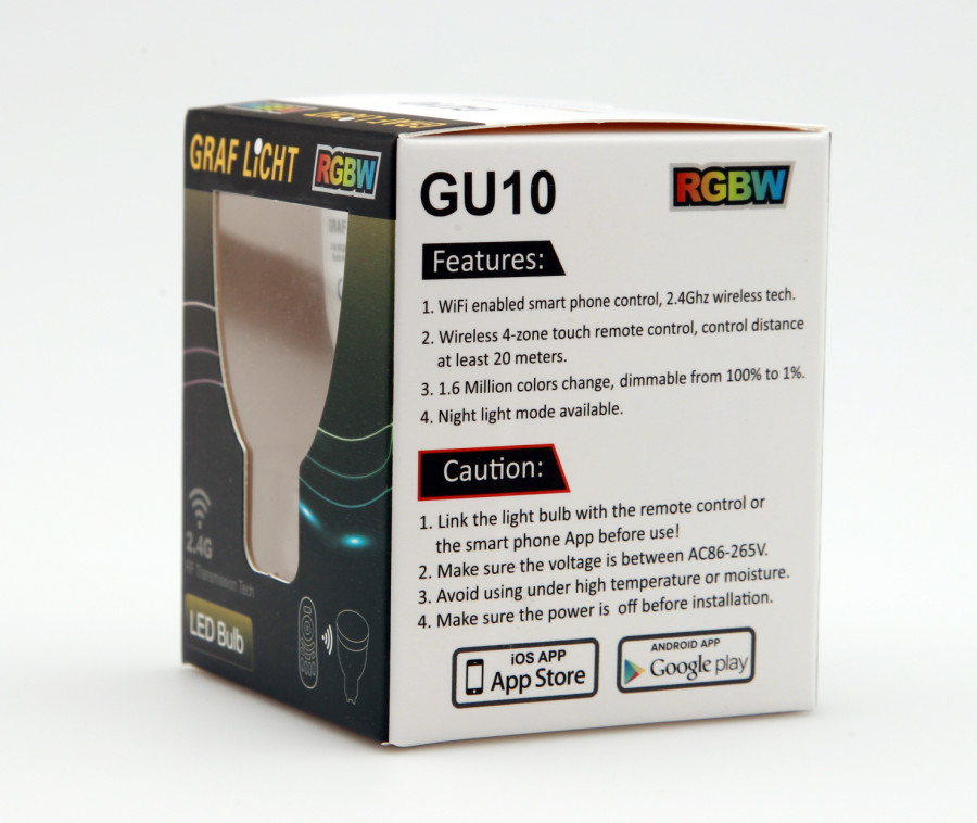 GU10 Lampen 900x758 - RGBW GU10 LED COLOR Lampe mit 4 Watt
