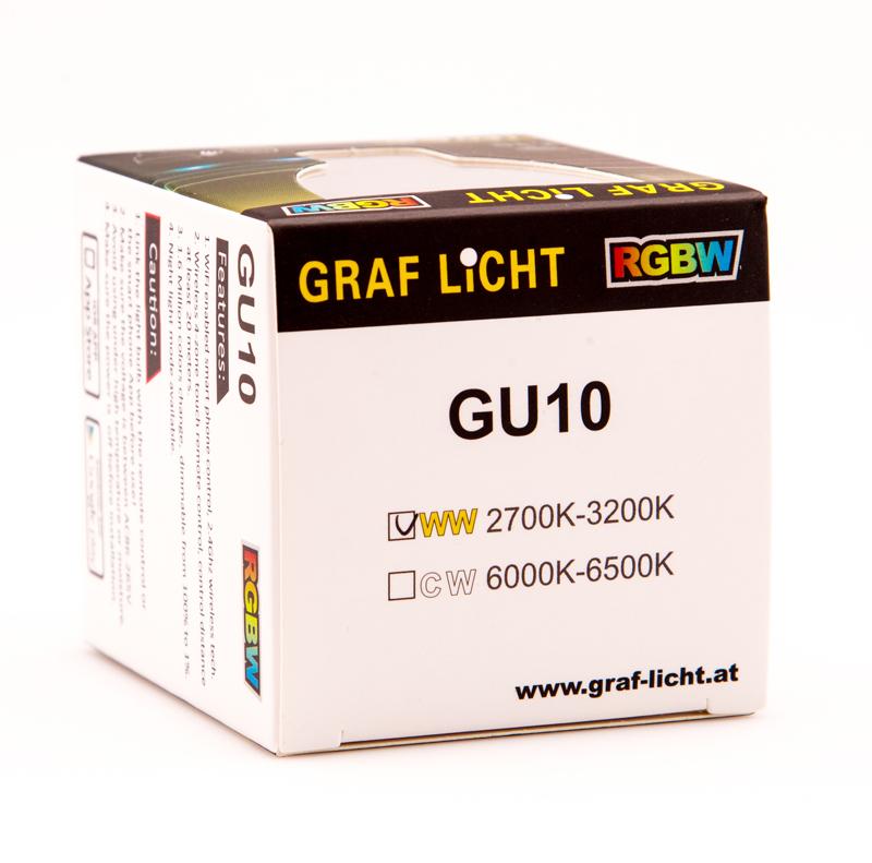 GU10 RGBW Lampen Leuchtmittel - RGBW GU10 LED COLOR Lampe mit 4 Watt