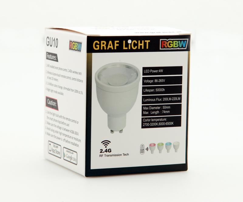 Lampen GU10 RGBW - RGBW GU10 LED COLOR Lampe mit 4 Watt
