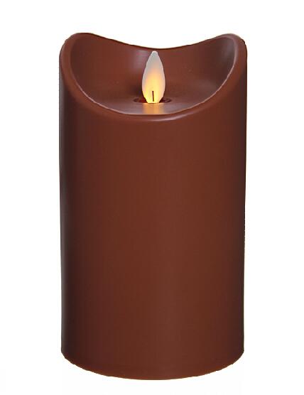 LED Kerzen Schoko braun