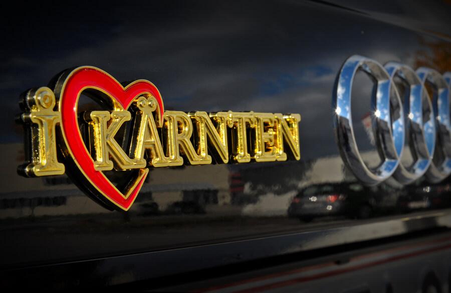 Autoaufkleber Gold Kärnten - Autoaufkleber I Love Kärnten im Kärntenshop