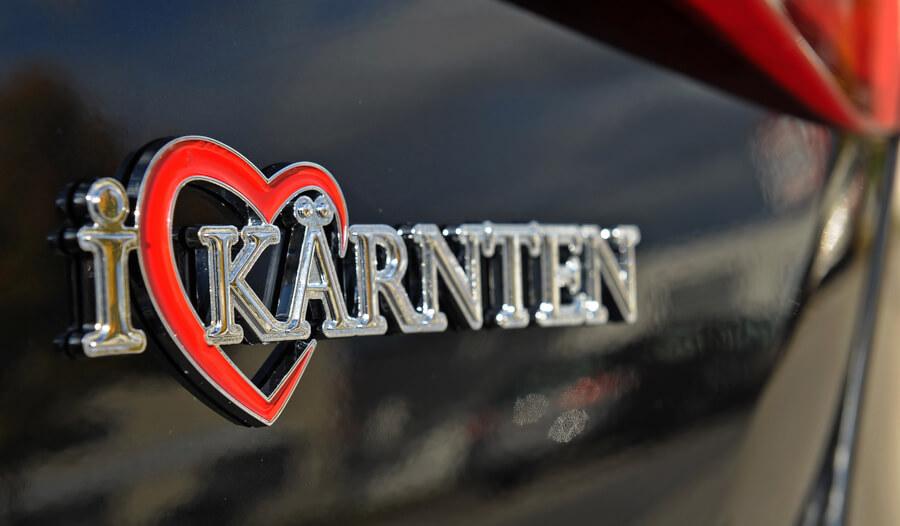 Autoaufkleber Kärnten Logo - Autoaufkleber I Love Kärnten im Kärntenshop