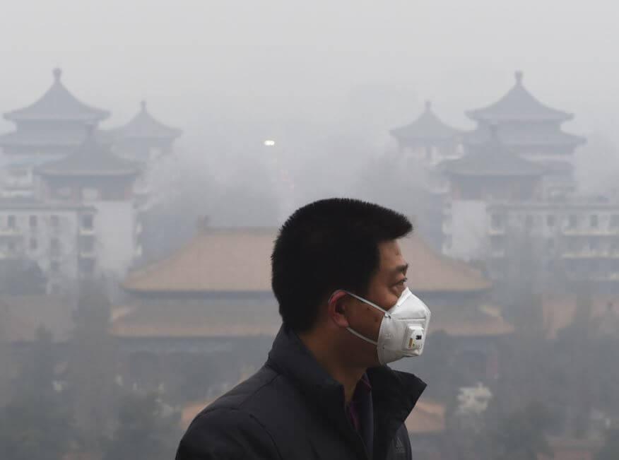 Smog-Warnstufe in Peking
