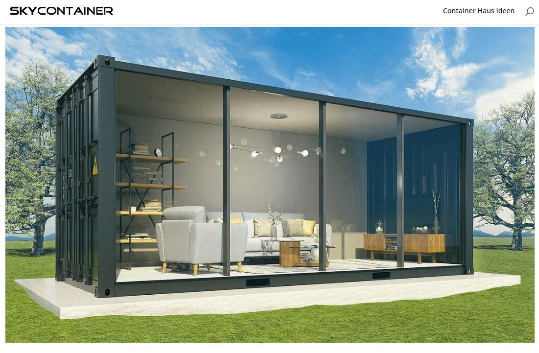 Containerhaus Garten Verglast - 37.000 € PopUp House: Das DIY-Haus der Zukunft