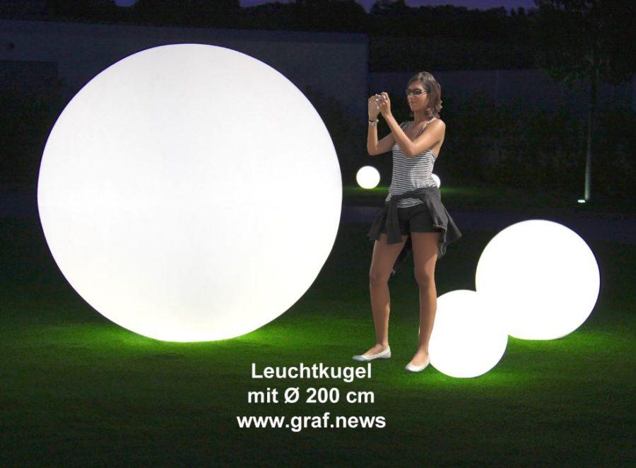 Kugelleuchten Leuchtkugel 200cm Durchmesser - Kugelleuchten & Kugellampen für den Garten Gartenkugeln Leuchtkugeln mit LED
