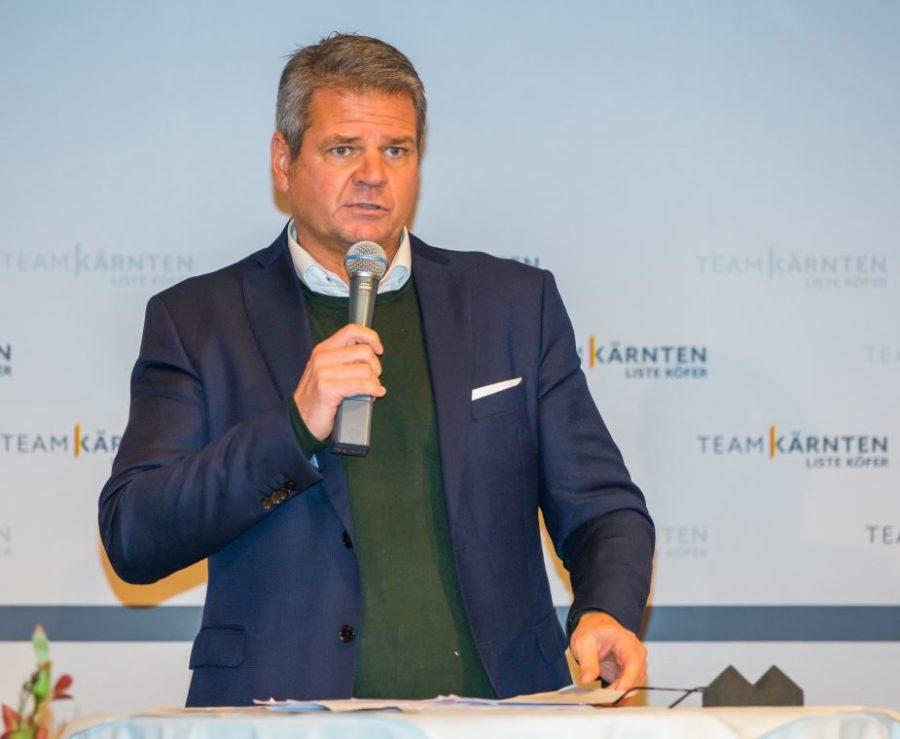Gerhard Köfer Kärnten Team - 100 % Zustimmung für LR Gerhard Köfer