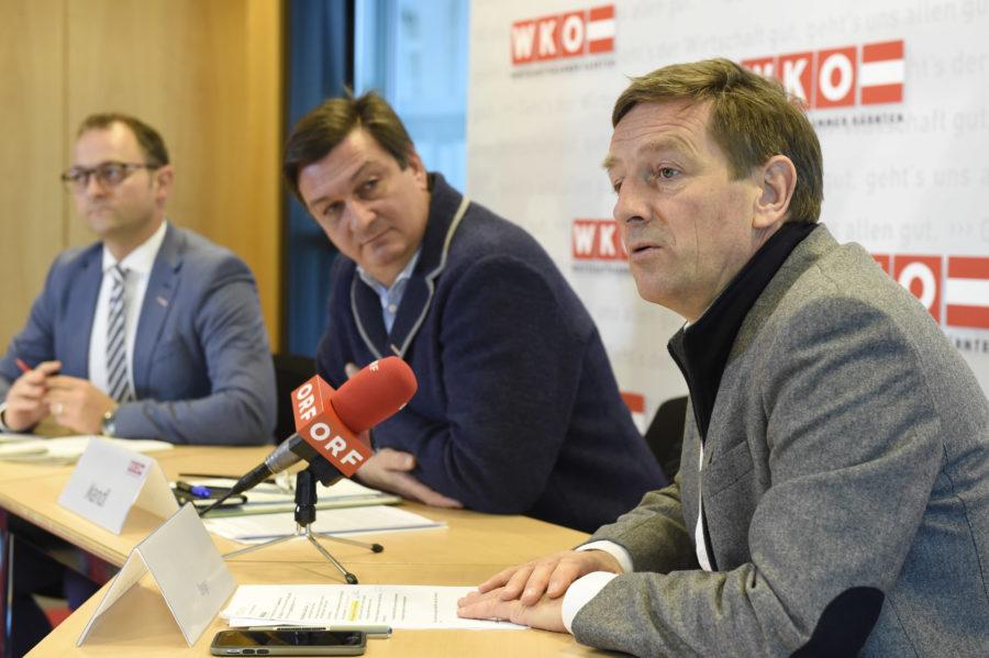 """Meinrad Häfferer Jürgen Mandl Chstian Benger Export WKO - Land Kärnten und WKO stellen die """"Exportmillion"""" vor!"""