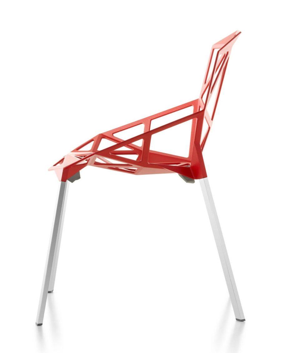 rote terrassenstühle one - Magis Chair One Stapelstuhl by Graf News