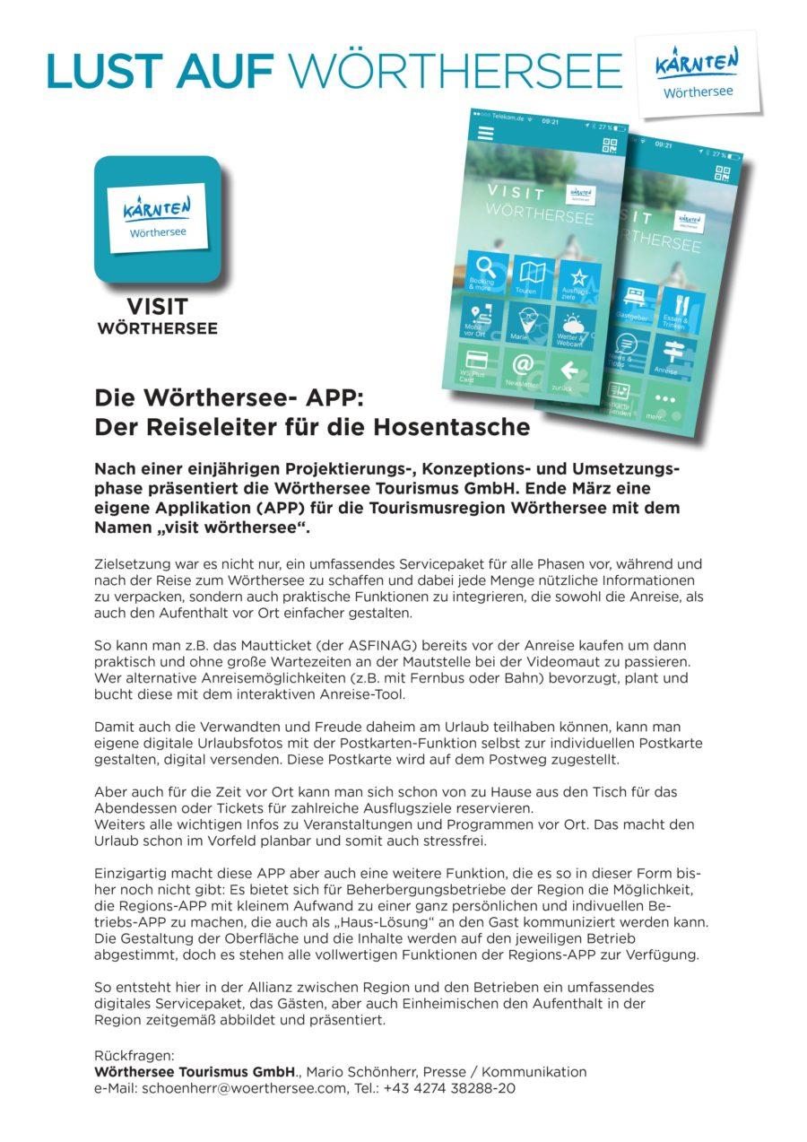 0001 - Die Wörthersee-App: Der Reiseleiter für die Hosentasche