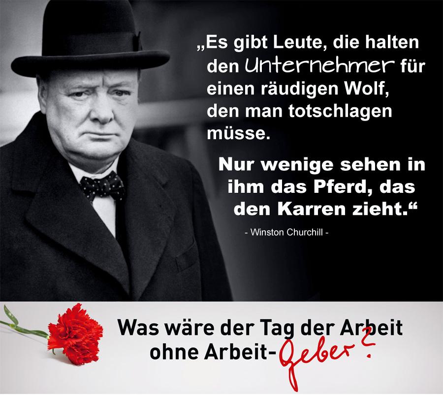 01 Winston Churchill - Was wäre der Tag der Arbeit ohne Arbeitgeber?