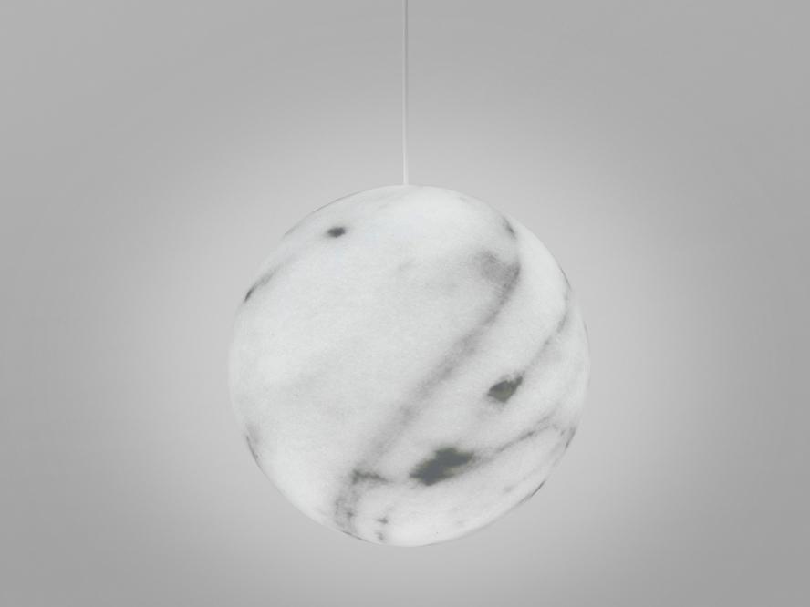 slide lampen slide mineral hanging lamp grey marble - SLIDE Design News aus Milano - moderne Gartenmöbel