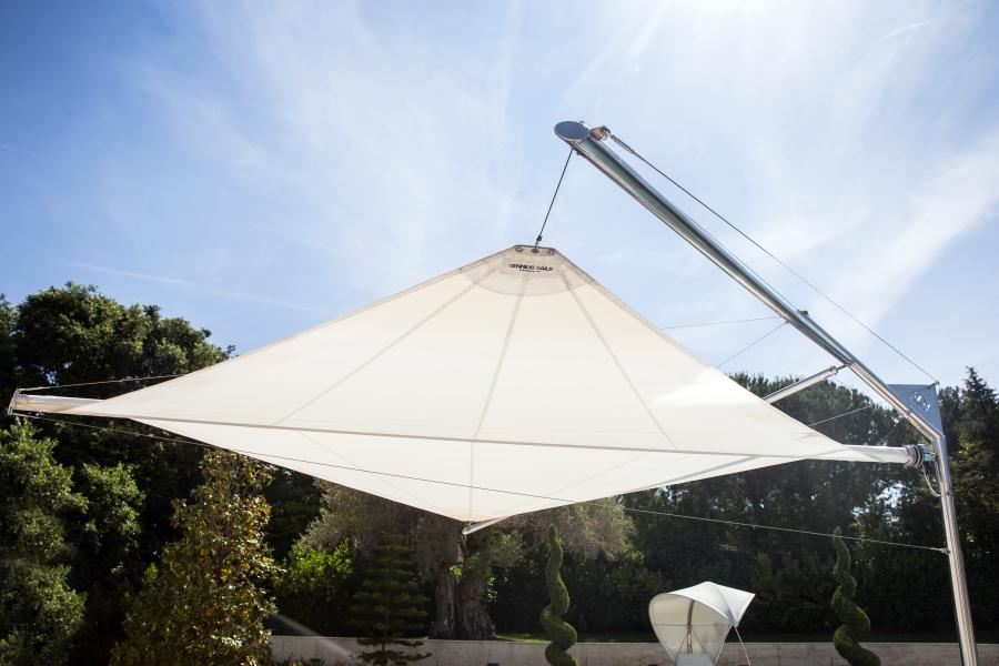 KE CapdAntibes 17 Kolibrie aperto laterale - Sonnenschutzsegel & Sonnenschutzsysteme NEWS