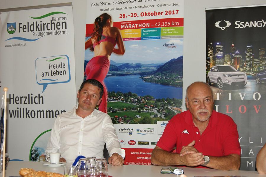 Robert Graimann Helmut Paul Marathon - I Love Kärnten Marathon: Pressekonferenz als Auftakt