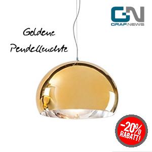Goldene Designer Pendelleuchte Kartell Fly von Graf News