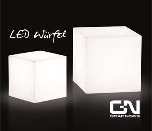 LED Sitzwürfel Gartenmöbel Loungemöbel