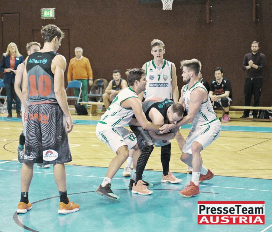 Basketball 2 Bundesliga KOS Villach DSC 1652 - Basketball Kärnten-Derby KOŠ Posojilnica Bank Celovec - Panaceo Raiders Villach