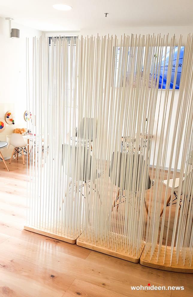 Sichtschutz aus Holz Raumteiler Trennwand