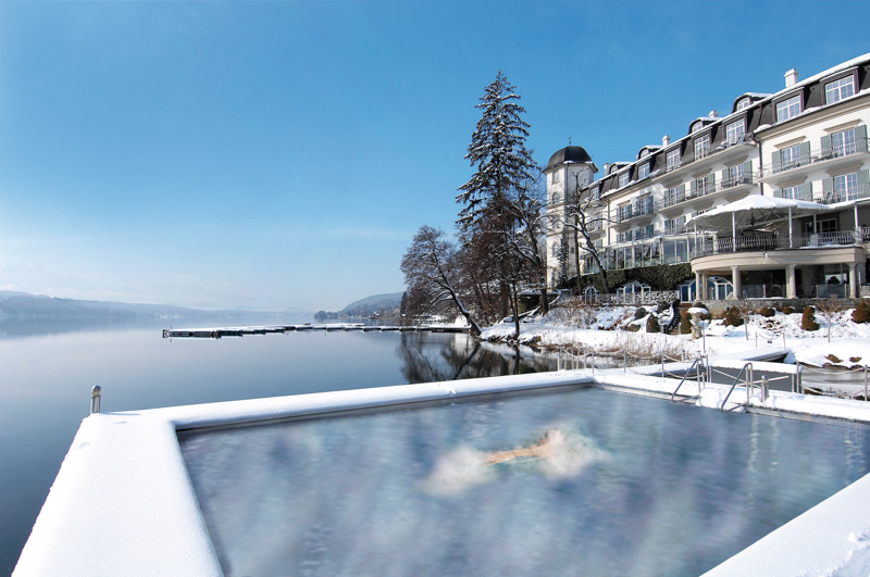 Seefels Seebad Winter KPH 2558©Marion Assam - 5 Sterne Hotel Schloss Seefels in Pörtschach am Wörthersee