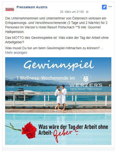 """wellness urlaub gewinnspiel - """"Kärntens Unternehmer bewahrten uns vor Totalausfall"""""""