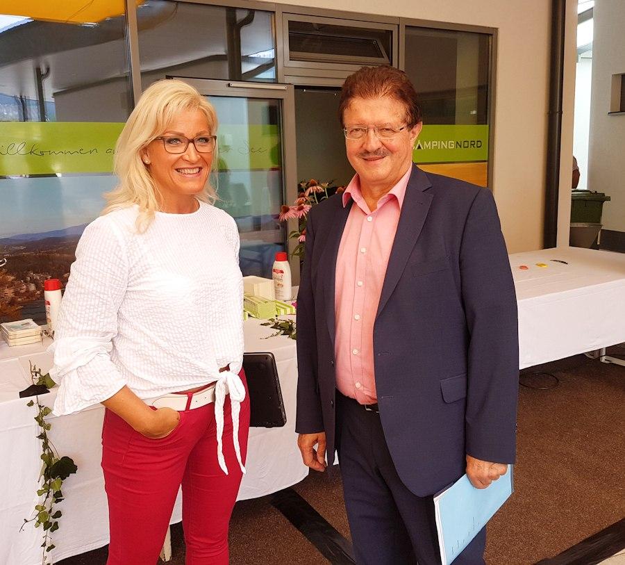 Gerlinde Robitsch und Bürgermeister Thomas Krainz