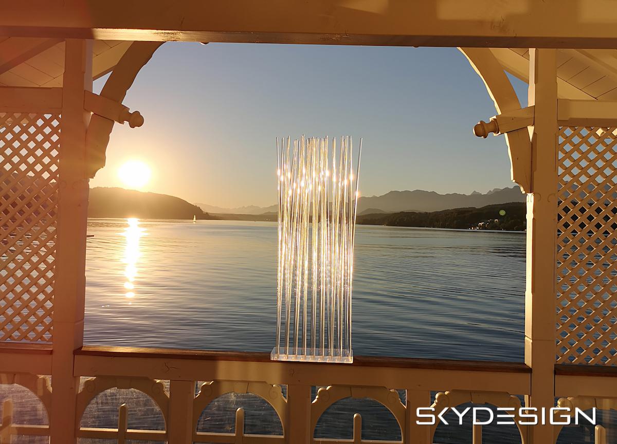 """Transparenter Sky Design Sichtschutz - """"Skydesign"""": Eleganz aus Licht und Kunst im Wohnbereich"""