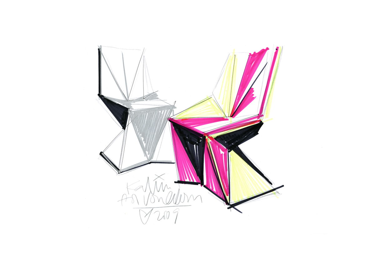 VOXEL CHAIR Sketch Haendler - Graf News Voxel chair | by Karim Rashid
