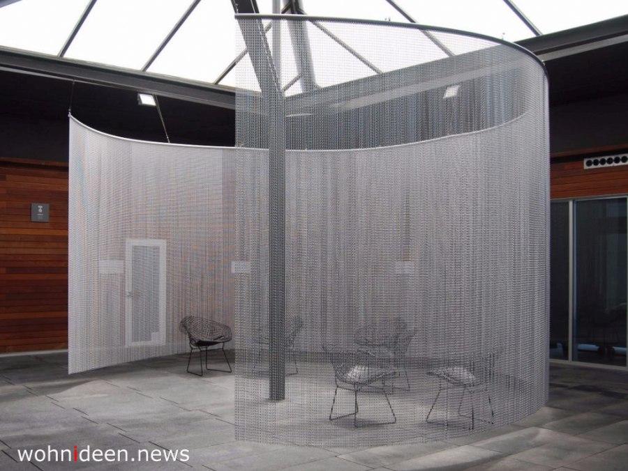 Aluminium Perlenvorhang Vorhang - Die 124 schönsten Design Sichtschutz Raumteiler Ideen der Welt