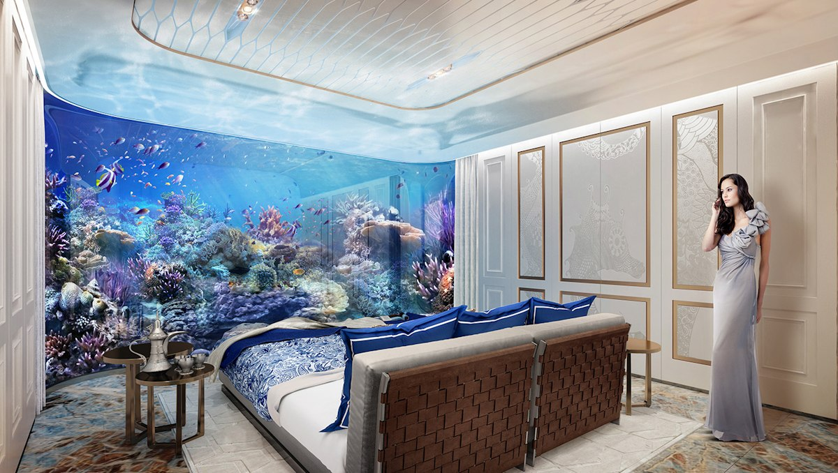 Dubai Seahorse the floating seahorse signature edition coral guest room - Luxus Urlaub in Dubai - Signature Edition