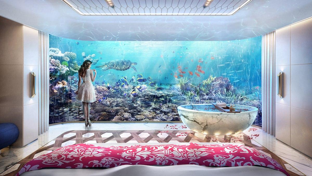Dubai Seahorse the floating seahorse signature edition underwater bedroom 2 - Luxus Urlaub in Dubai - Signature Edition