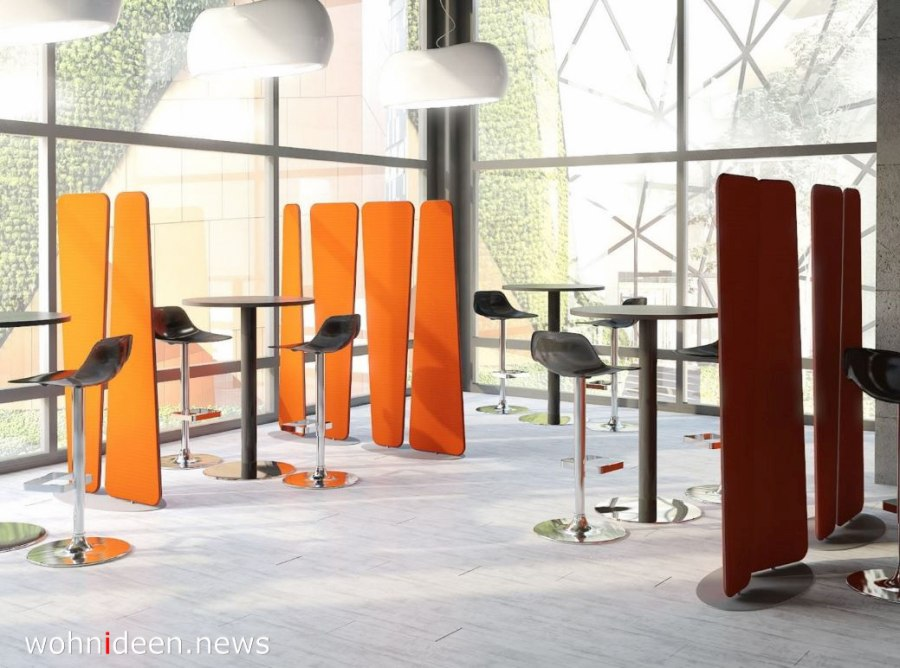 Raumteiler für Büro und Gastronomie