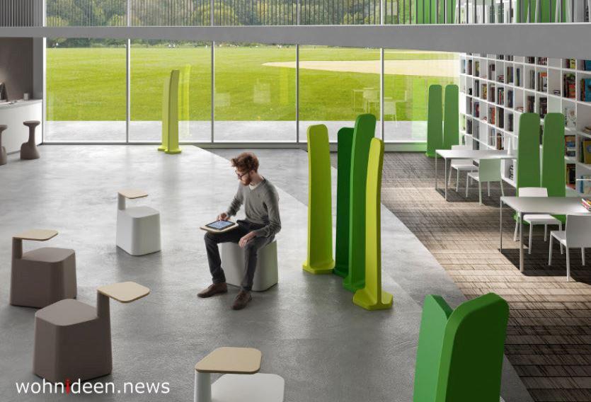 Einzigartige grüne Raumteiler