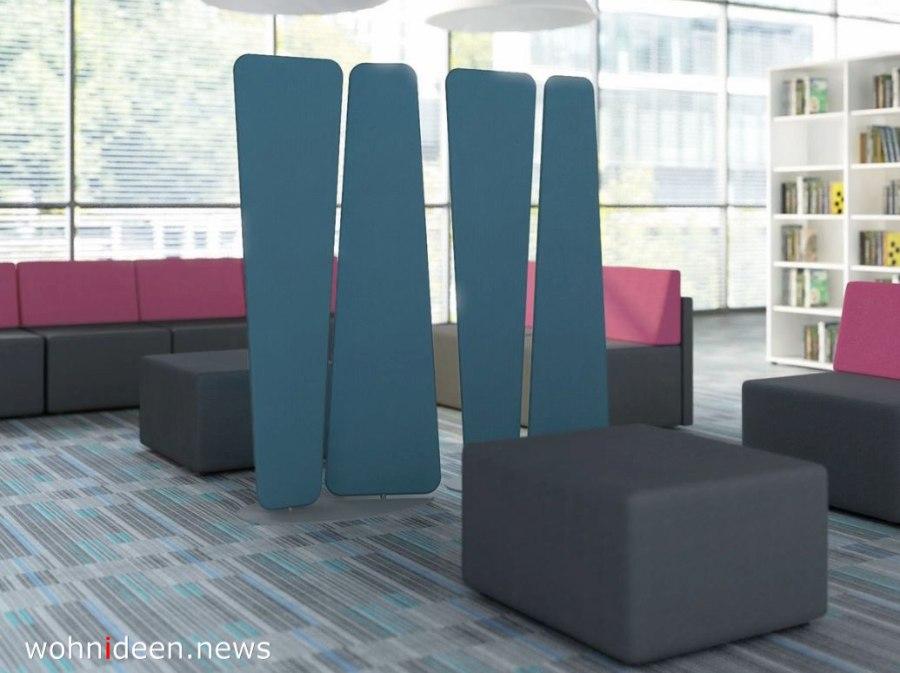 Moderne Freistehende Trennwand aus Stoff - Die 124 schönsten Design Sichtschutz Raumteiler Ideen der Welt