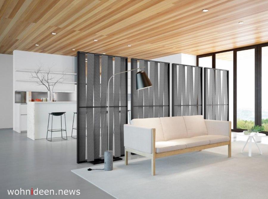 Polyester Raumteiler mit Stoff und Metal sehr modern und ausgefallen - Die 124 schönsten Design Sichtschutz Raumteiler Ideen der Welt