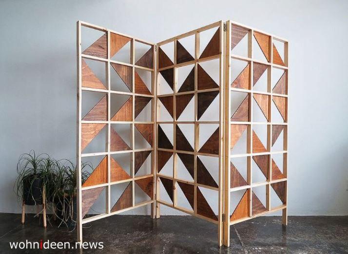 Holz Designer Paravent