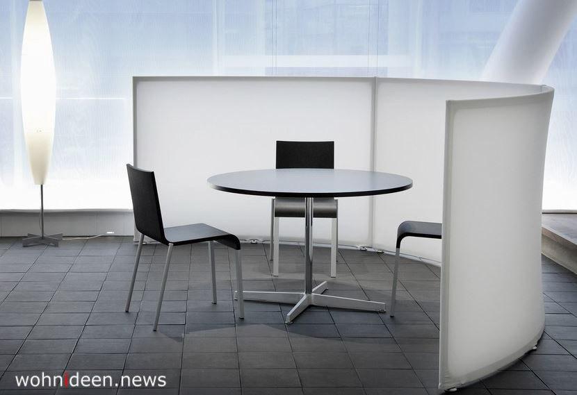 Raumteiler Schreibtisch Trennwand aus Stoff in weiss - Die 124 schönsten Design Sichtschutz Raumteiler Ideen der Welt