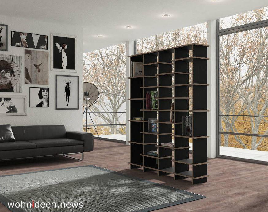 Raumteiler als Bücherregal im Wohnzimmer - Die 124 schönsten Design Sichtschutz Raumteiler Ideen der Welt
