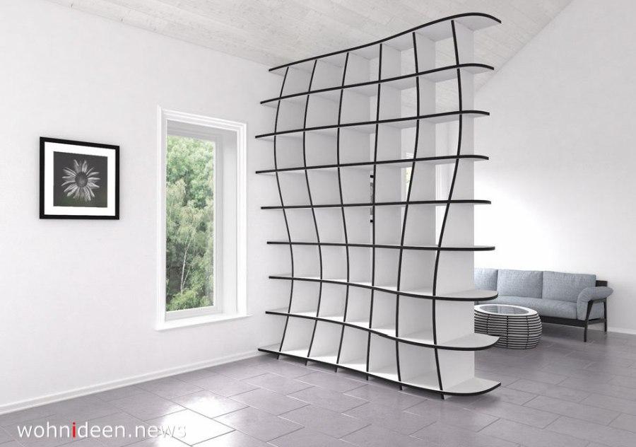 Raumteiler mit weicher linie modern und weiss - Die 124 schönsten Design Sichtschutz Raumteiler Ideen der Welt