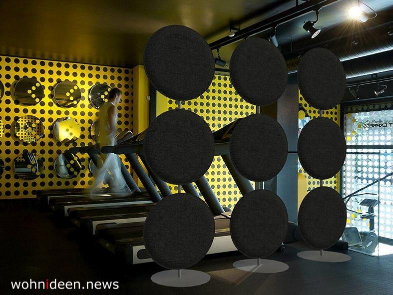 Runde Raumteiler aus Filz - Die 124 schönsten Design Sichtschutz Raumteiler Ideen der Welt