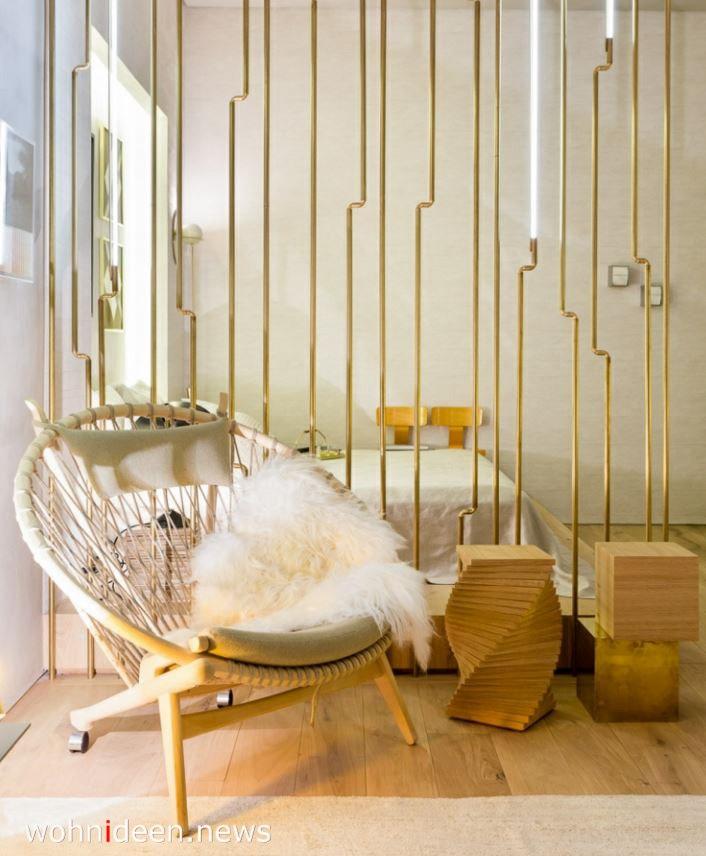 Schlafzimmer Sichtschutz mit Stäbe - Die 124 schönsten Design Sichtschutz Raumteiler Ideen der Welt