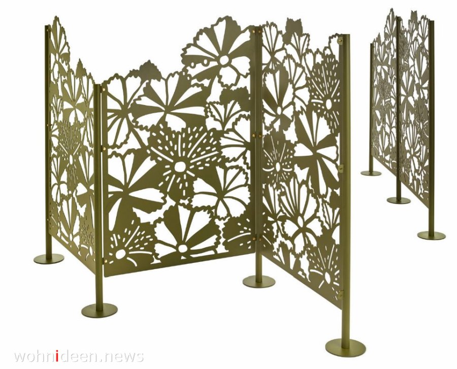 Sichtschutzwand aus pulverbeschichtetem Stahl mobile Raumteiler Idee - Die 124 schönsten Design Sichtschutz Raumteiler Ideen der Welt
