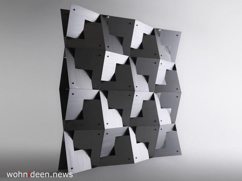 Skulptur aus Metall als Raumtrenner Sichtschutz Idee - Die 124 schönsten Design Sichtschutz Raumteiler Ideen der Welt