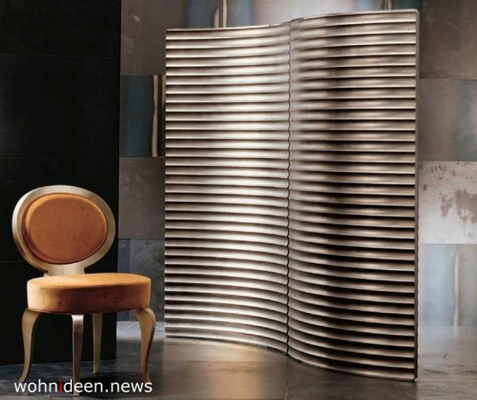 Stylisher Paravent als Raumteiler Sichtschutz - Die 124 schönsten Design Sichtschutz Raumteiler Ideen der Welt