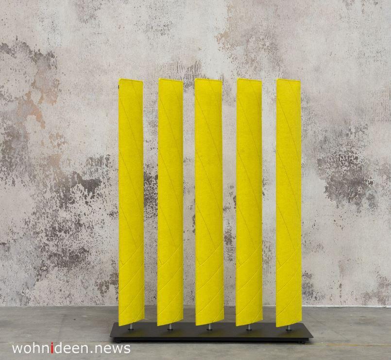 gelbe raumteiler sonnig und mobil - Die 124 schönsten Design Sichtschutz Raumteiler Ideen der Welt