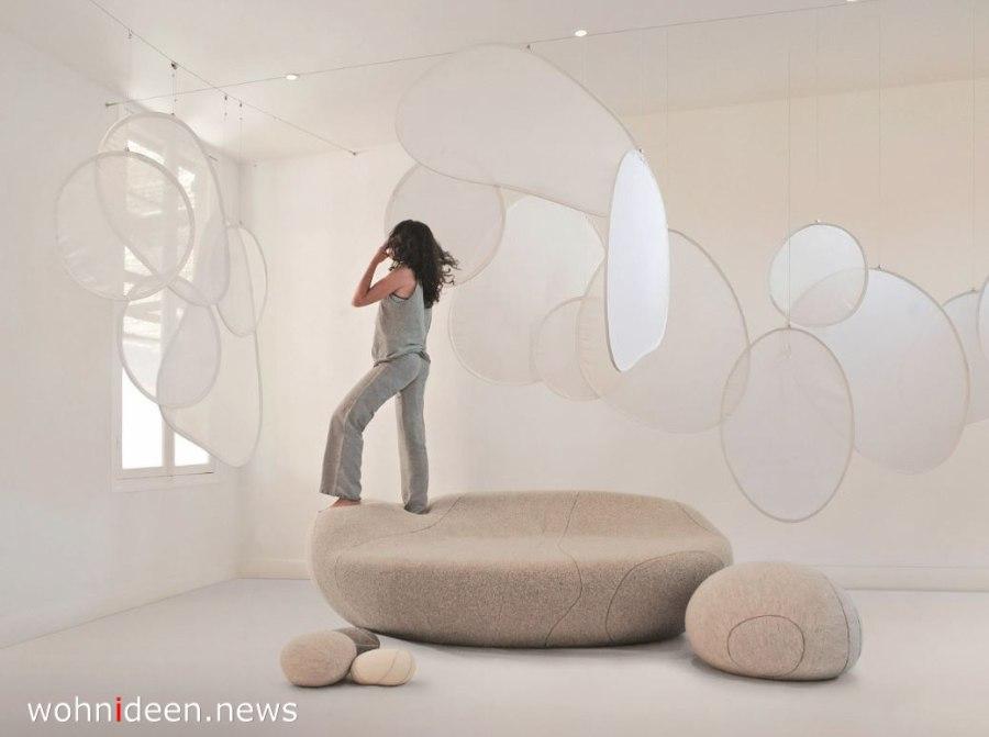 schwebender raumteiler von der decke abgehängt - Die 124 schönsten Design Sichtschutz Raumteiler Ideen der Welt