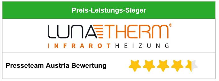 Infrarotheizung Test und Vergleich: Lunatherm Infrarotheizung aus Österreich