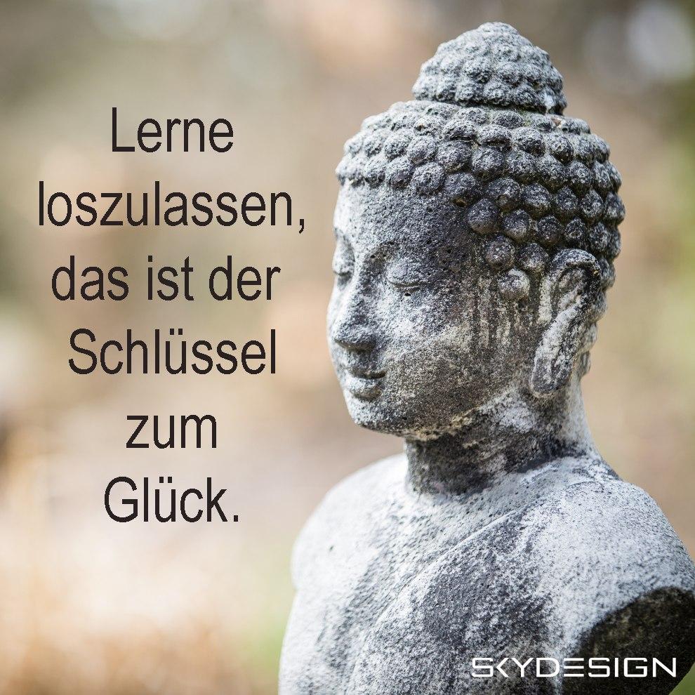 Lerne loszulassen das ist der Schlüssel zum Glück - Die beliebtesten 20 Buddha Zitate & Sprüche