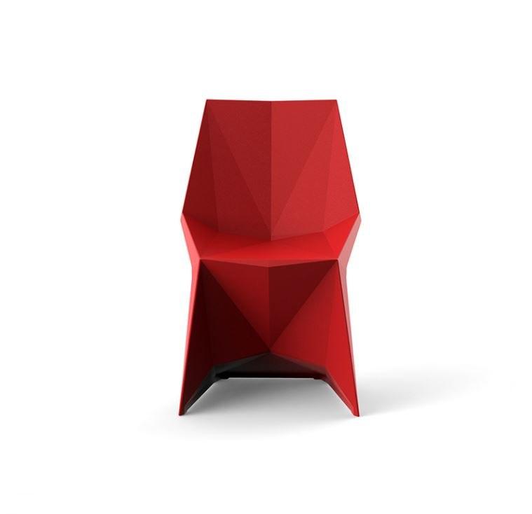 Vondom Voxel roter Stuhl Graf News - Outdoor Design Stuhl Voxeles von Graf News