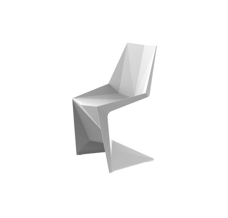 Vondom Voxel weisse Designer Stühle Graf News - Outdoor Design Stuhl Voxeles von Graf News