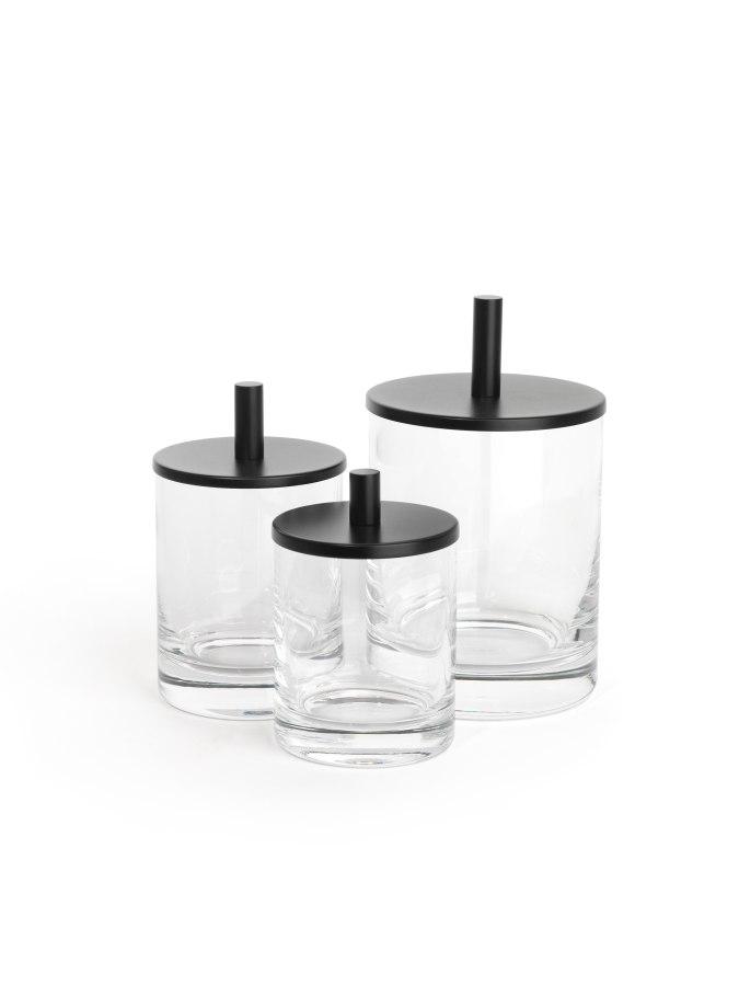 Badezimmer KLOMFAR Round Up Glasdosen klar schwarz - KLOMFAR präsentiert Trends und Entwicklungen rund ums Badezimmer